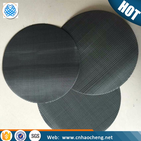 Black wire mesh/black wire cloth filter disc for PP PE plastic recycle filter mesh screen