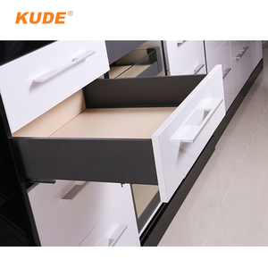 Metal Cabinet Drawer System tandembox Black Double Wall Drawer Slide