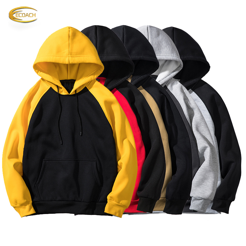 Ecoach high quality 100%cotton fleece hip hop streetwear custom logo <strong>hoodie</strong> printing <strong>men's</strong> <strong>black</strong> oversized pullover <strong>hoodie</strong>