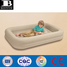heavy duty flocking PVC twin size inflatable travel kids bed mattress folding portable luxe inflatable toddler traveling air bed