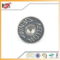 Custom Logo alloy sewing snap jeams botton for trade company