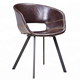 High quality PU leather upholstered modern dining chairs /leisure chairs/silla de comedor chaise