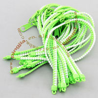 two tone plastic zipper hair Ribbon
