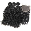 Double Drawn Virgin Curly Hair Vendors Deep Curly Hair With Closure