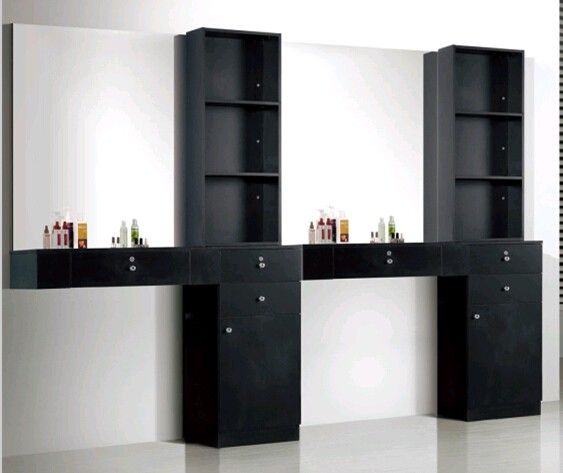 Barber Shop Equipment Wood Hair Salon Styling Stations For
