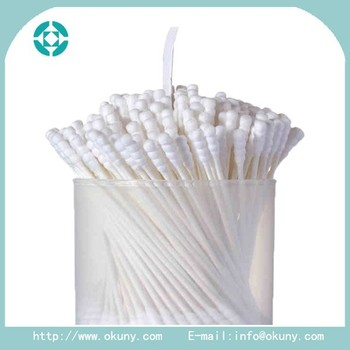 Top quality disposable cotton ear bud/swab