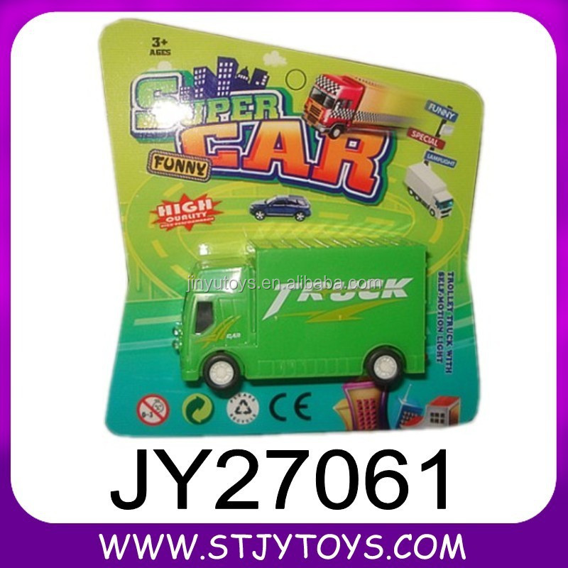 promotional mini plastic toy truck with light