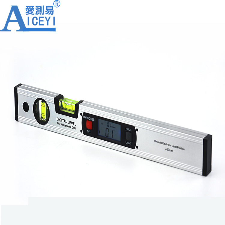 Wholesaler 400mm Two Buttons Digital Aluminum Material Spirit <strong>Level</strong> Without Magnetic
