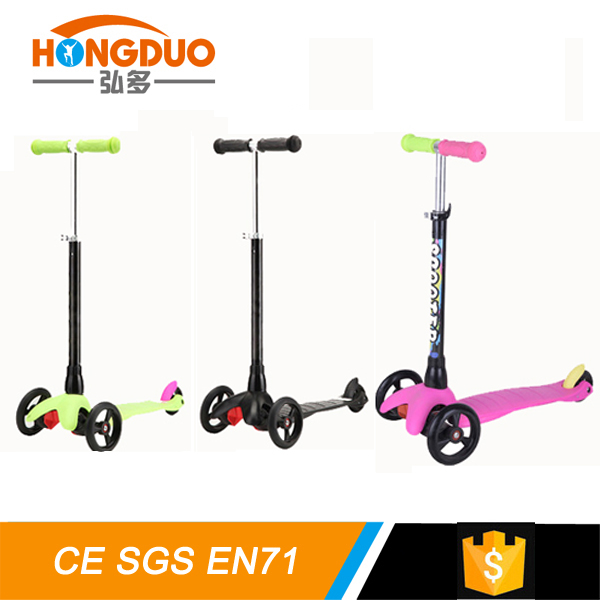 Foldable on road kids 3 wheels kick pushing scooter/2016 high quality professional kids kick scooter,baby scooter toys