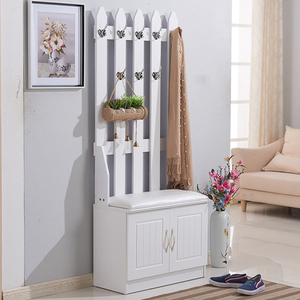 white color modern design with hooks shoe cabinet shoe rack