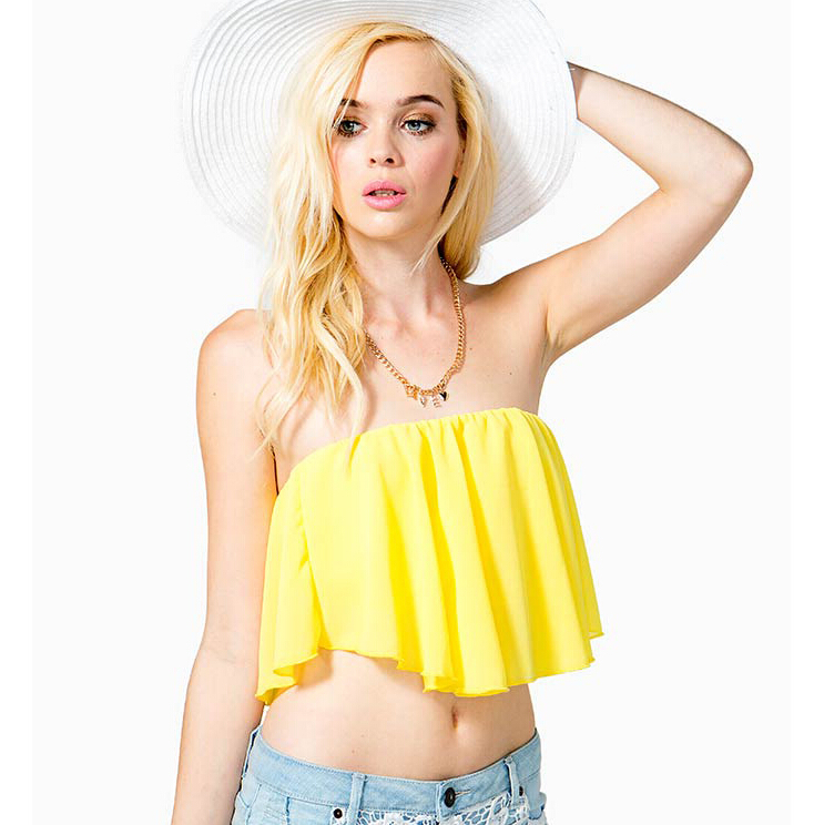 44b9fce99e Get Quotations · Summer Style Women Strapless Tube Top 2015 One-piece Sunny  Beach Sexy Backless irregular straps