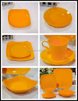 Porcelain galzed square 30 pcs dinner set