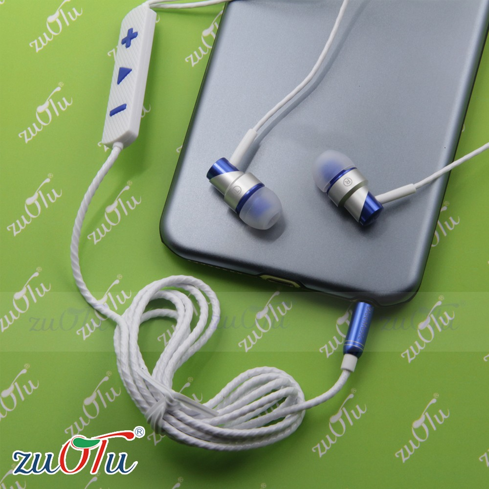 2016 High quality metal hearphone different color in ear earphone with noise cancelling