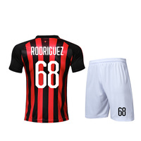 Chinese manufacturer factory AC fans Italian milan player wholesale 100% polyester Sublimated custom design Soccer Jersey