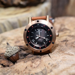 2019 Luxury Waterproof watch diver Leather Strap Automatic Bronze Wrist Man Watch Commercial dual-purpose watch