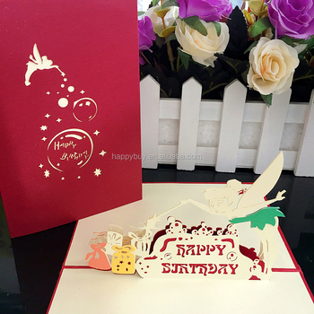 Fairy 3d Pop Up Birthday Greeting Card Handmade Kids Gift Cards