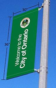 "Signworld Street Light Pole Banner Bracket with Custom 30""x36"" Print"