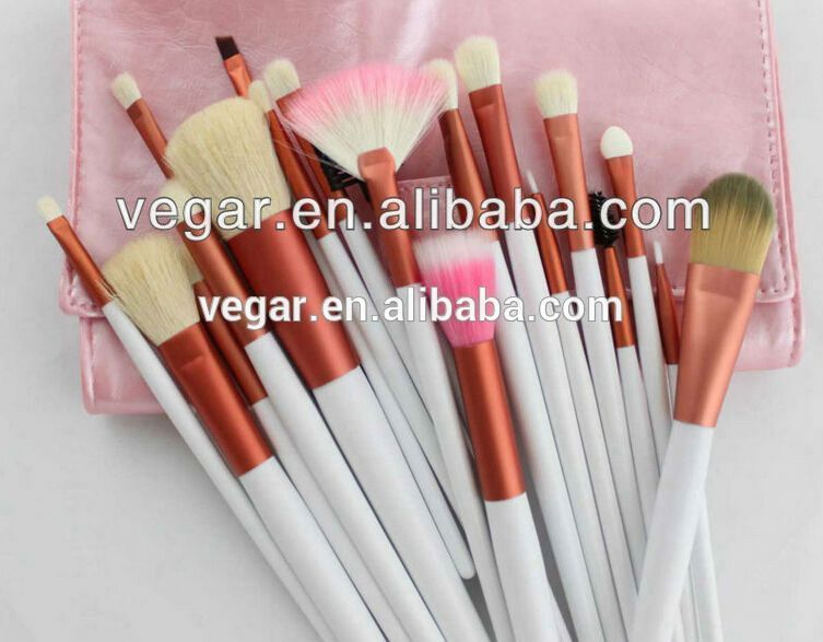 Pro 20pcs brushes with pink bag makeup brushes free samples