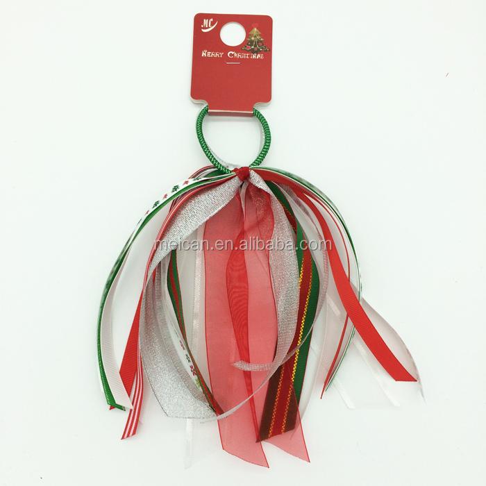 alta calidad del lazo del pelo banda de pelo arco de la cinta de navidad