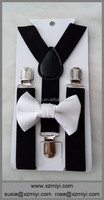 black white boys bow ties suspenders and bow ties for boys man tie set