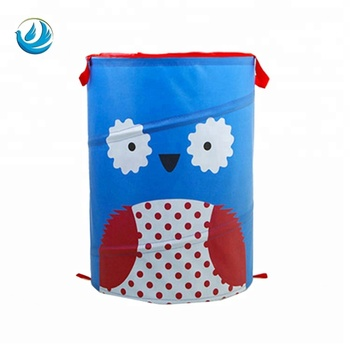 animal waterproof polyester foldable large laundry bag hamper portable fabric basket