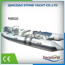 china 5.2m center steering console inflatable rib boat for sale