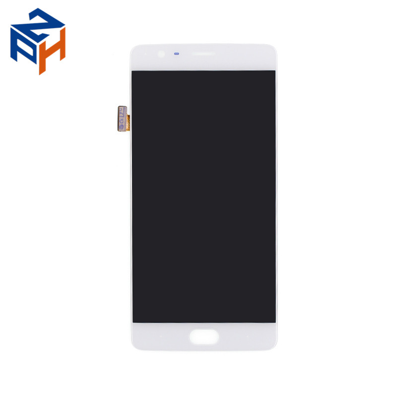 Cell Phone White LCD Touch Screen For Oneplus 3 Three LCD Display Digitizer Replacement