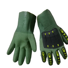 heat resistant gloves pvc dotted impact gloves Oilfield and Industrial work