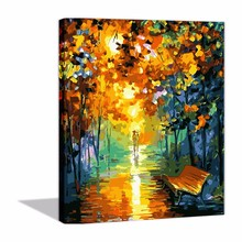 DIY Oil Painting By Number Paints Leonid Afremov LED Colorful World
