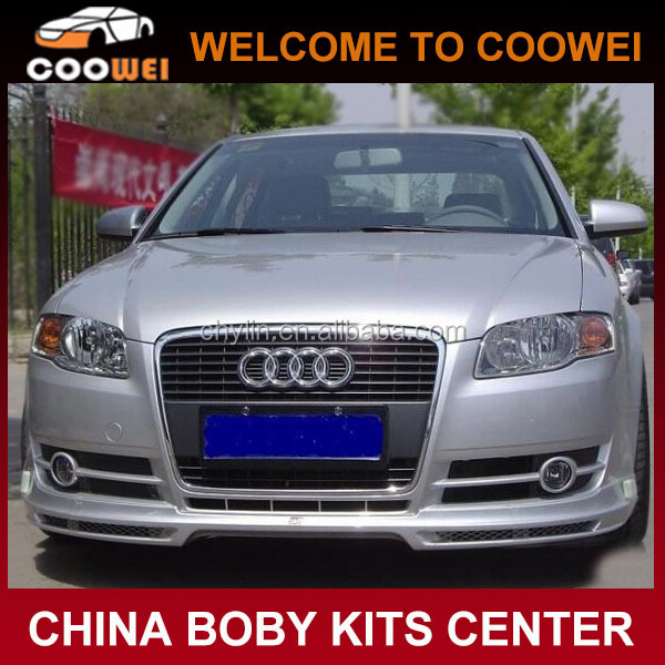 Top Quality Pu Material A4 ABT Front Bumper Lip For Audi A4 B7 06-08