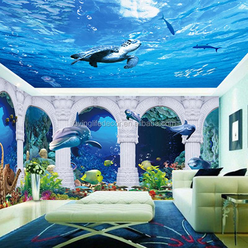 3d Sea World Wall Murals Wallpaper And Whole Room Mural Al Murad