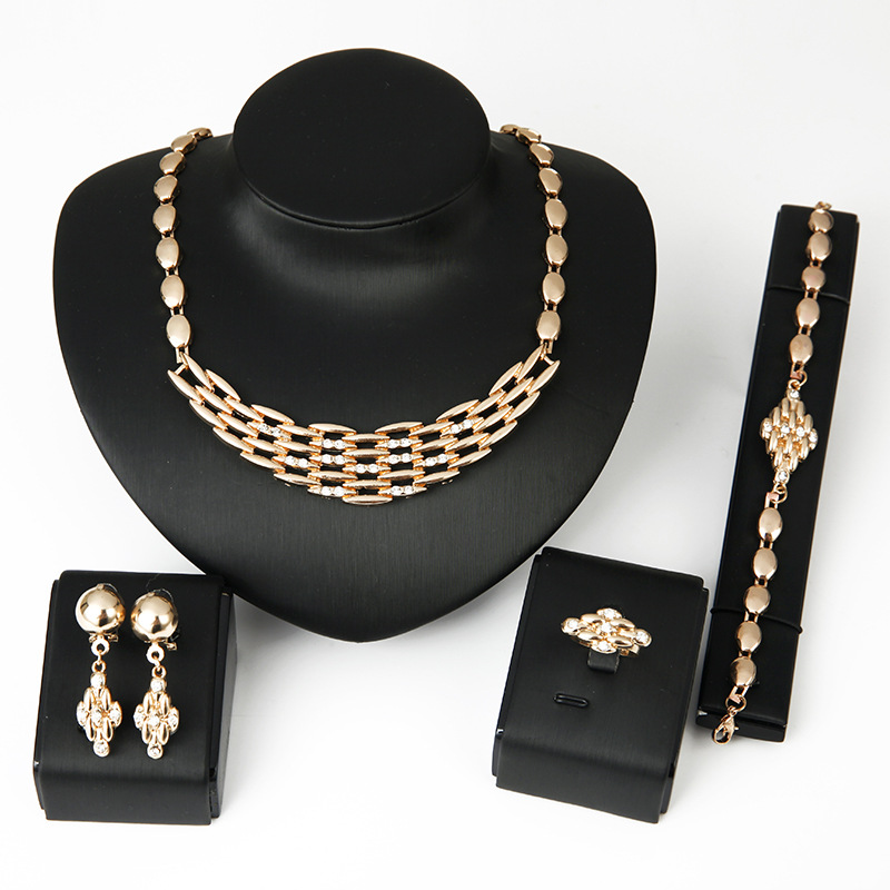 Stylish Trendy Jewelry Sets Exaggerated Tribal Jewelries Ball Chains Fashion Ornaments For Women