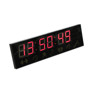 New products meeting room clock small 6 digits red custom led display