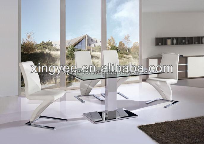 Moderne woonkamer meubels set van eettafel rvs center eettafel ontwerp gehard glas top luxe - Meubels set woonkamer eetkamer ...