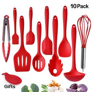 FDA 10 Pieces Cooking Tool Kitchen Utensils ladle spoon silicone kitchen utensil set