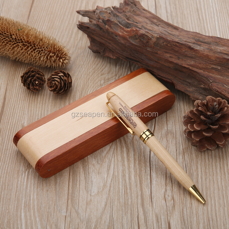High Quality Luxury Wooden ball-point Pen with Wooden Pen kit