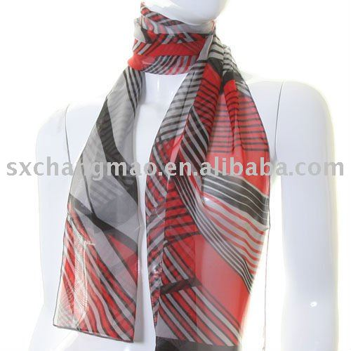 Abstract Lines woven china scarf