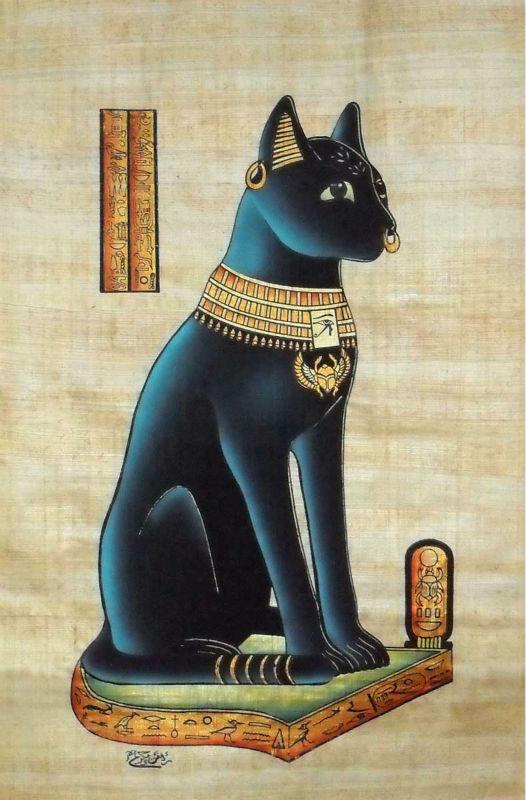 коты в египте рисунок люблю