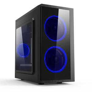 Acrylic front panel with LED fan Micro ATX case desktop case Micro ATX case PC chassis ATX cabinet