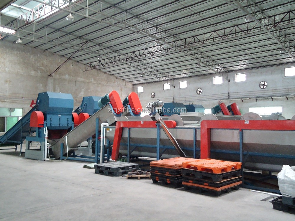 Recycling crushing drying line for PE PP HDPE Film