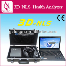 2014 news original english/spanish 3d cell nls health analyzer with high quality