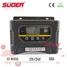 Suoer Intelligent Charge Controller 12V Solar Controller 50A PWM Solar Controller