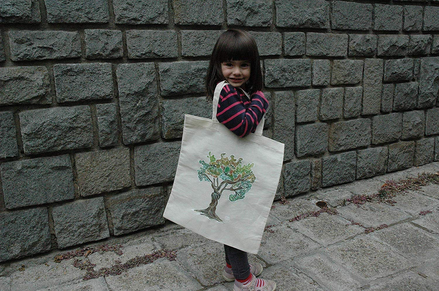 Sale!!!15% Off,Tree of Life Illustration Eko Tote Bag,Hand Painted organic cotton tote bag,Acrylic Painted Tree of Life.