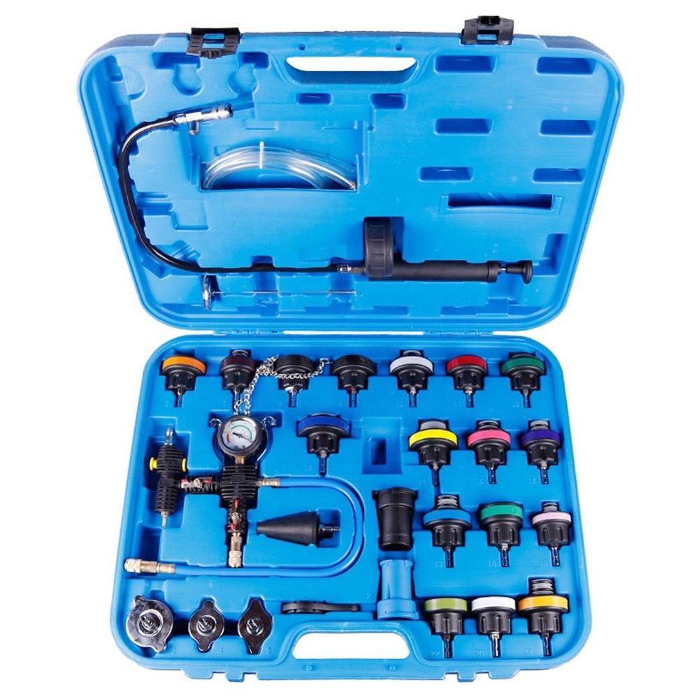 Coche herramientas de diagnóstico del sistema de refrigeración y tipo de vacío refrigerante del radiador probador de presión