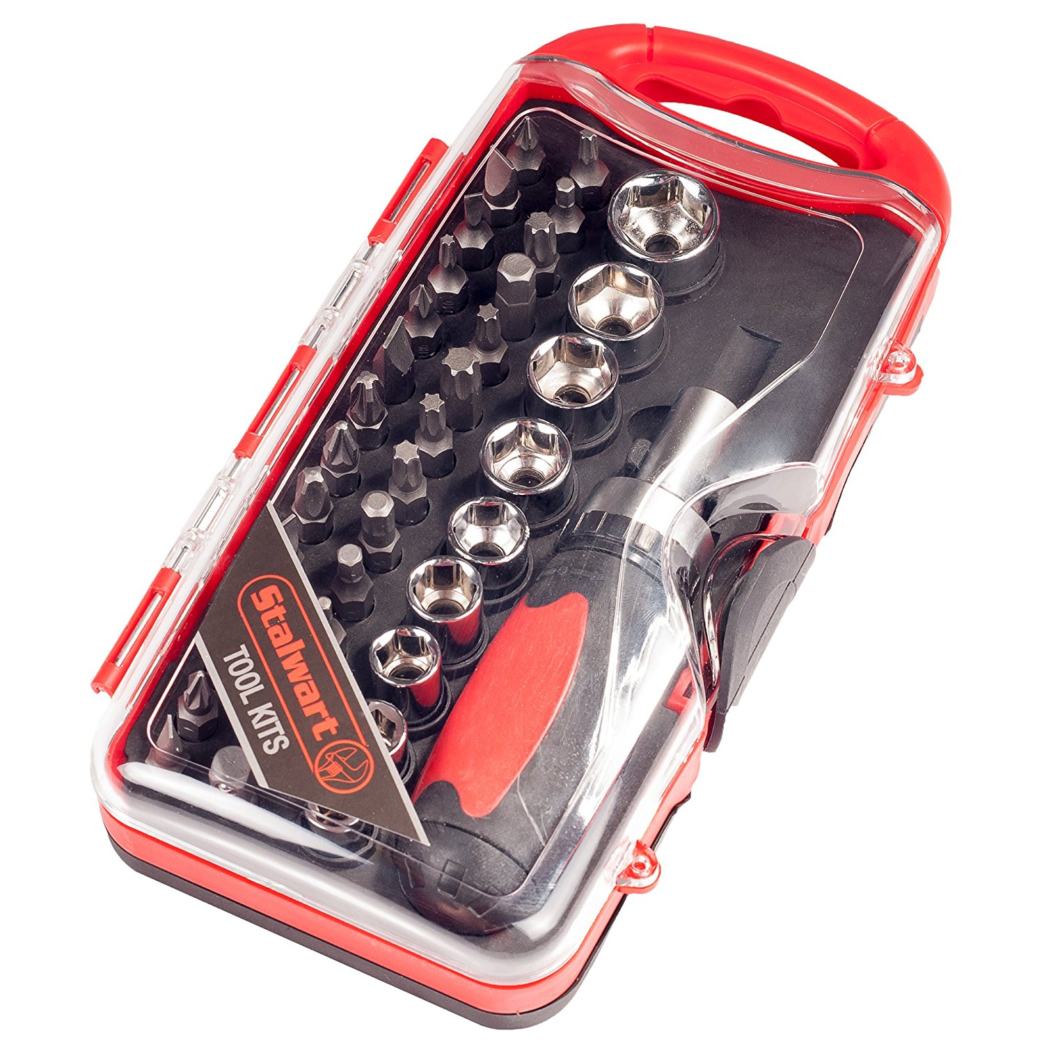 99733babf Get Quotations · Ratcheting Screwdriver with 38 Piece Bit and Socket Set -  Stubby Handle Multitool with Metric and
