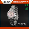 China Manufacturer Hot Sale Imitation Diamond Stainless Steel Pink Ladies Watch