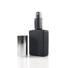 empty rectangle 1 oz 30ml matte frosted black glass spray bottles for perfume