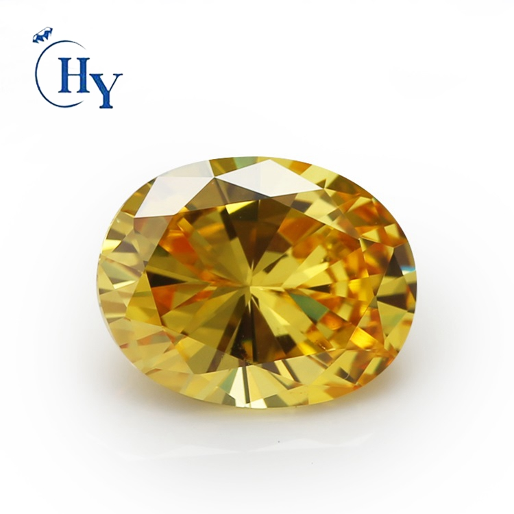 Wholesale Loose Golden Yellow Oval Cubic Zirconia Price