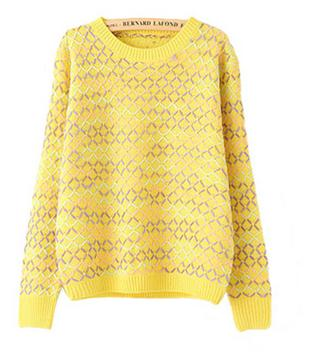 female spring loose T-shirt Vintage sweater students fancy cardigan