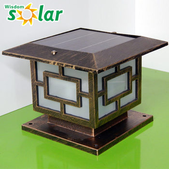 Perfect Led Exterior Lamps,Decorative Solar Gate Post Pillar Light